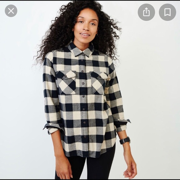 Roots Tops - Plaid Button-Down by Roots